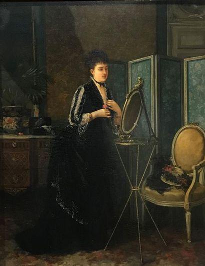 Jeanne SAMSON (XIX) Jeune femme coquette...