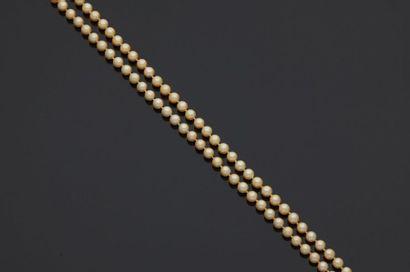 Sautoir de perles de culture fermoir olive...