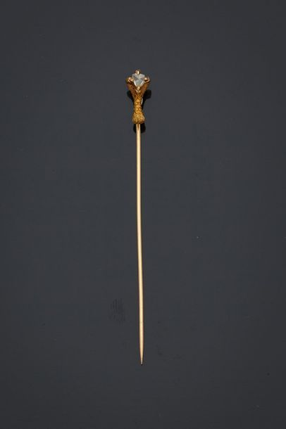 Épingle de cravate en or jaune, 18k 750‰,...