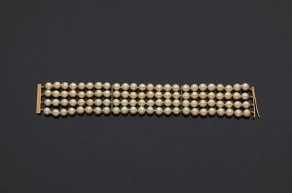 Bracelet de perles de culture, quatre rangs,...