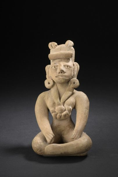 STATUETTE anthropomorphe   Culture Huaxtèque,...