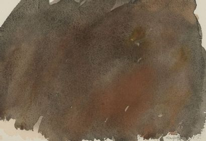 RAQUEL (1925-2014)  Sans titre, 1987  Une aquarelle et une gouache sur papier,...