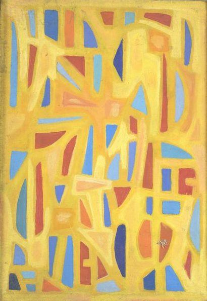 RAQUEL (1925-2014)  Huile sur toile.   Cachet...