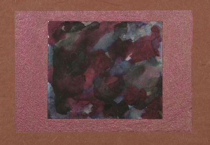 RAQUEL (1925-2014)  Sans titre  Deux aquarelles sur papier. L'une signée et datée...