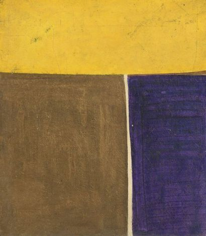 RAQUEL (1925-2014)  Sans titre, 1967  Acrylique sur panneau signé et daté au dos....