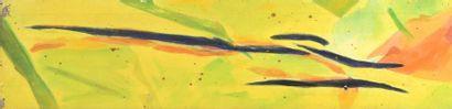 RAQUEL (1925-2014)  Sans titre, 1965  Huile sur toile datée au dos.  Cachet d'atelier...