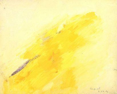 RAQUEL (1925-2014)  Sans titre, 1965  Huile sur toile signée et datée en bas à...
