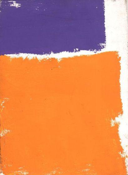 RAQUEL (1925-2014)  Sans titre, vers 1972  Acrylique sur toile.  Cachet d'atelier...
