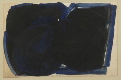 RAQUEL (1925-2014)  Sans titre, 1982  Gouache sur papier signé et daté en bas...
