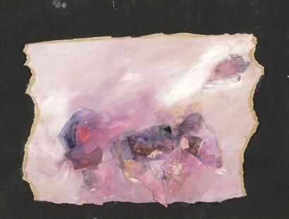 RAQUEL (1925-2014)  Sans titre  Technique mixte et collage sur papier.  Cachet...