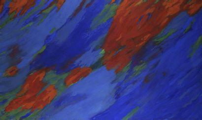 RAQUEL (1925-2014)  Bleu - rouge, 1990 -...