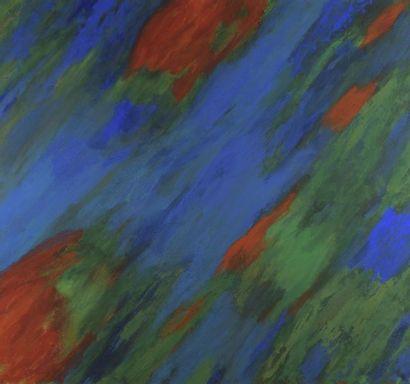 RAQUEL (1925-2014)  Bleu - rouge - vert,...
