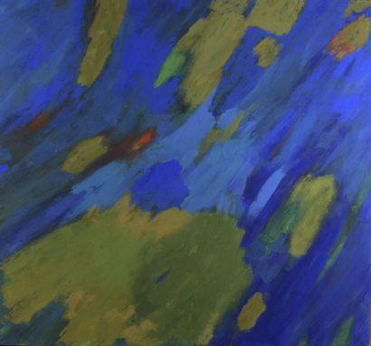 RAQUEL (1925-2014)  Bleu - vert, 2002  Technique...