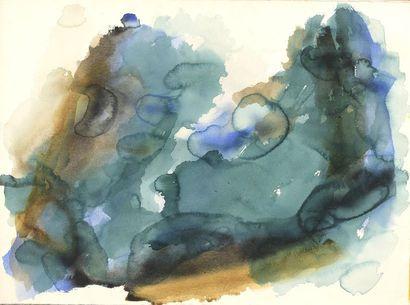 RAQUEL (1925-2014)  Sans titre  Aquarelle...