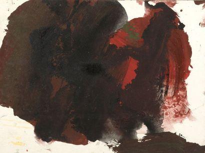 RAQUEL (1925-2014)  Sans titre  Gouache sur papier.  Cachet d'atelier au dos...