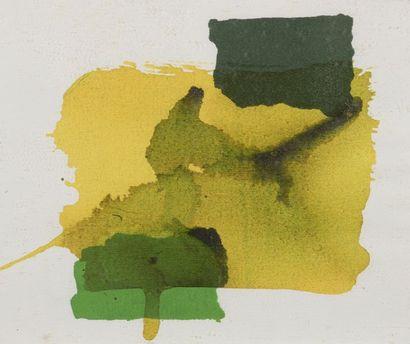 RAQUEL (1925-2014)  Sans titre  Deux aquarelles sur papier signées en bas à gauche....