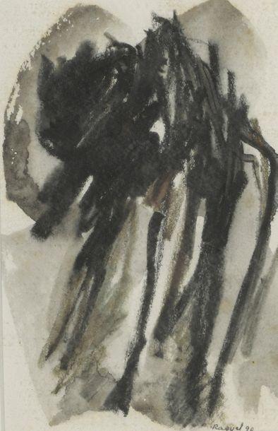 RAQUEL (1925-2014)  Sans titre, 1982 et...