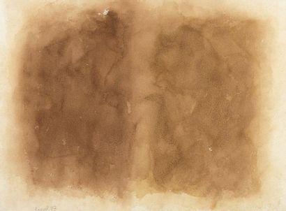 RAQUEL (1925-2014)  Sans titre, 1987  Aquarelle...
