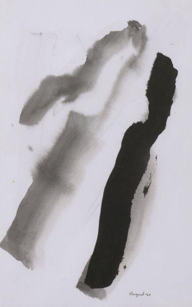 RAQUEL (1925-2014)  Sans titre, 1990  Une gouache et une Encre et lavis d'encre...