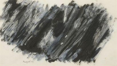 RAQUEL (1925-2014)  Sans titre, 1990 et 1991  Deux techniques mixtes sur papier...