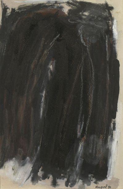 RAQUEL (1925-2014)  Sans titre, 1990  Deux...