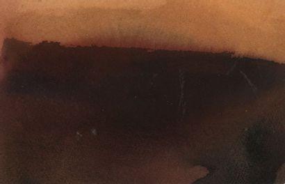 RAQUEL (1925-2014)  Sans titre, 1985  Deux aquarelles sur papier, l'une signée...