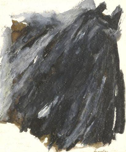 RAQUEL (1925-2014)  Sans titre, 1980 et 1985  Deux techniques mixtes sur papier,...