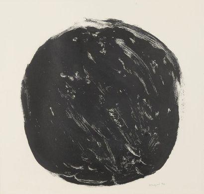 RAQUEL (1925-2014)  Boule, 1990  Monotype sur papier signé et daté en bas à droite....