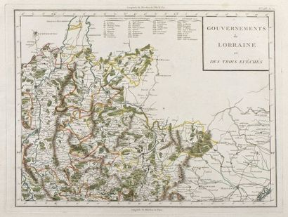 CARTES  Réunion de cartes de la fin du XVIIIe...