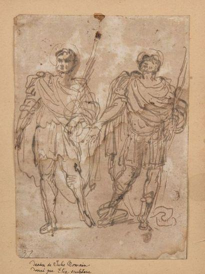 Attribué à Luca GIORDANO (1634-1705)  Deux...