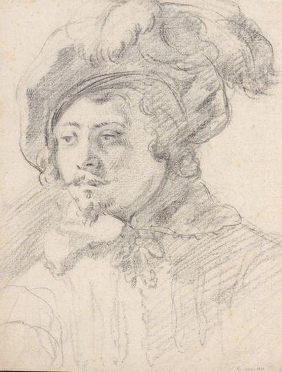 École ITALIENNE du XVIIe siècle  Portrait...