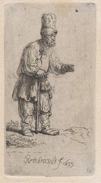 REMBRANDT VAN RIJN (1606-1669)  Paysan en...