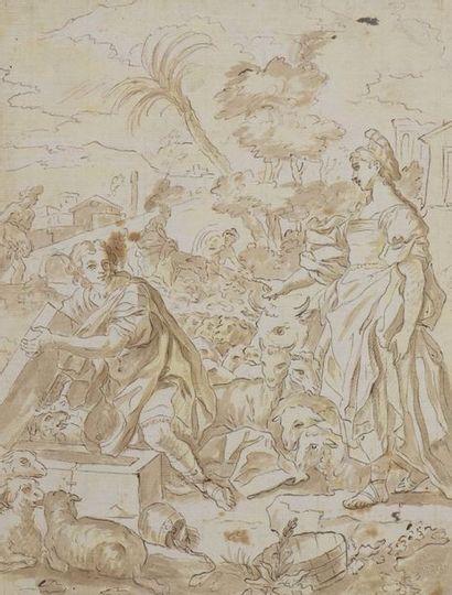 École ITALIENNE du XVIIe siècle  Laban et...