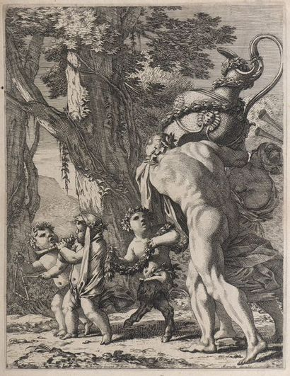 Michel DORIGNY (1617-1665)  Homme et femme...