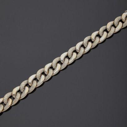 Bracelet souple en or gris, 18k 750‰, maille...