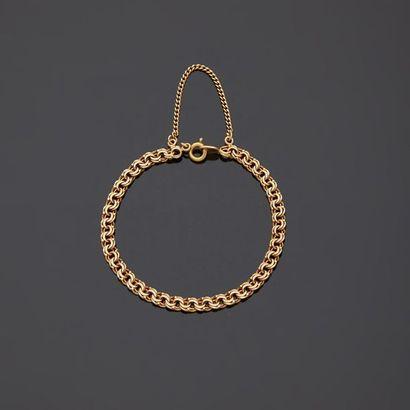 Bracelet en or jaune, 18k 750‰, composé d'une...
