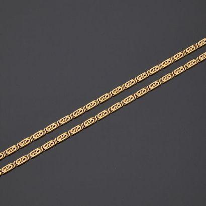Collier en or jaune, 18k 750‰, composé d'une...