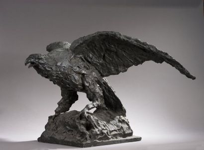 École ITALIENNE vers 1900  Aigle les ailes...