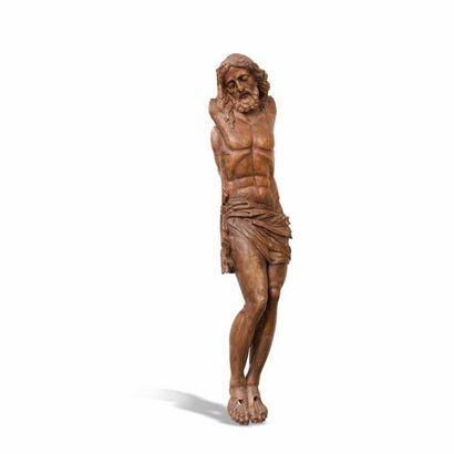 Christ en bois sculpté XVIIe siècle Hauteur...