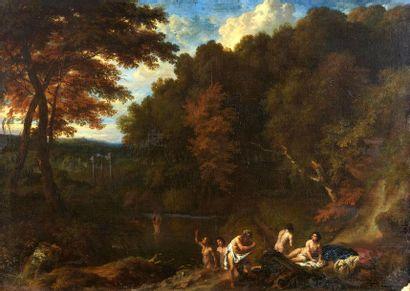 Attribué à Jan van HUYSUM (1682 - 1749) Paysage...