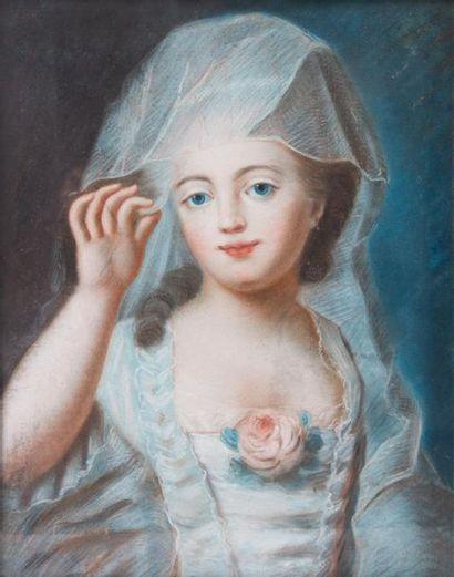 Ecole Française du XVIIIème Portrait de jeune...
