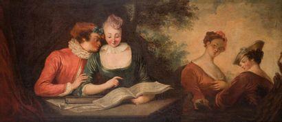 Ecole française du XVIIIème dans le goût...