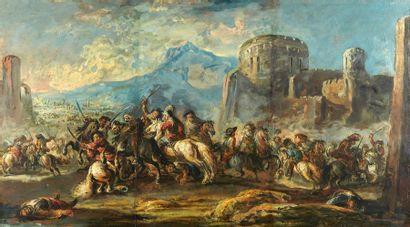 Vénitien XVIIIème, suiveur de Simonini Scène...
