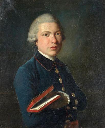 Ecole FRANCAISE vers 1750 Portrait d'un gentillhomme...