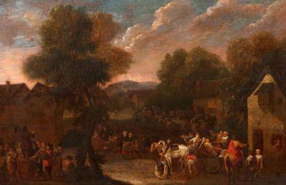Attribué à Peter BOUT (1658-1719) Scène de...