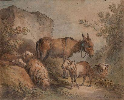 Jean Baptiste HUET (Paris 1745-1811) Âne...