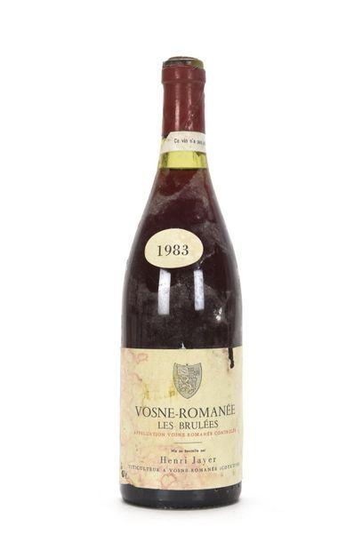 1 bouteille VOSNE-ROMANÉE LES BRULÉES (1er...
