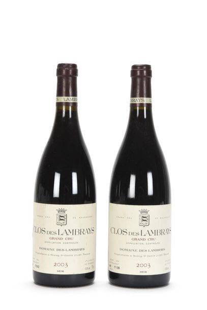 2 bouteilles CLOS DES LAMBRAYS (Grand Cru)...