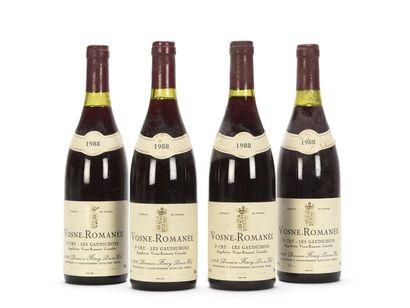 4 bouteilles VOSNE-ROMANÉE LES GAUDICHOTS...