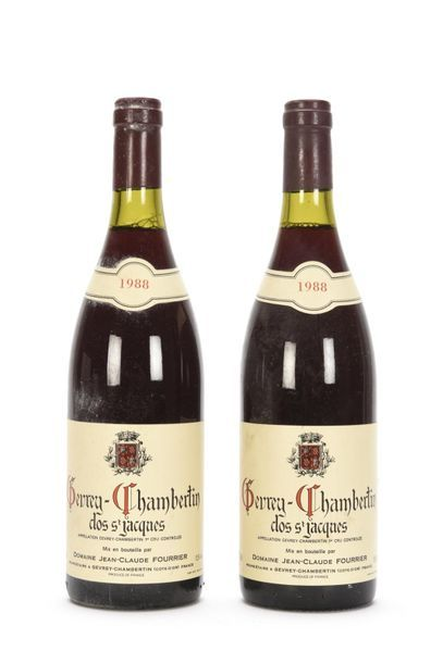 2 bouteilles GEVREY-CHAMBERTIN CLOS ST JACQUES...